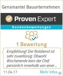 Erfahrungen & Bewertungen zu Gensmantel Bauunternehmen