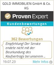 Erfahrungen & Bewertungen zu GOLD IMMOBILIEN GmbH & Co. KG