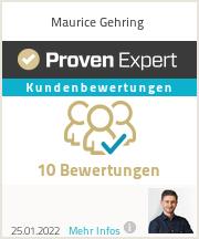 Erfahrungen & Bewertungen zu Maurice Gehring