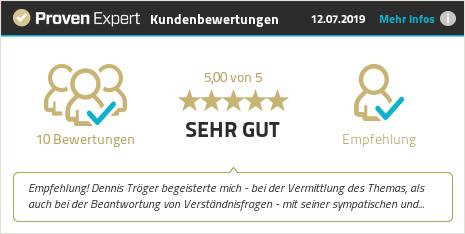 Erfahrungen & Bewertungen zu Dennis Tröger anzeigen