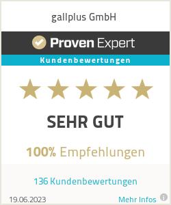 Erfahrungen & Bewertungen zu gallplus GmbH