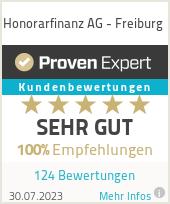 Erfahrungen & Bewertungen zu Honorarfinanz AG - Freiburg