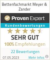 Erfahrungen & Bewertungen zu Bettenfachmarkt Meyer & Zander