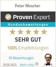 Erfahrungen & Bewertungen zu Peter Moscher