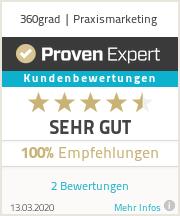 Erfahrungen & Bewertungen zu 360grad | Praxismarketing