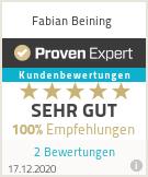 Erfahrungen & Bewertungen zu Fabian Beining