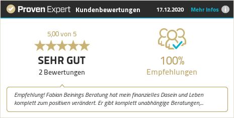 Kundenbewertungen & Erfahrungen zu Fabian Beining. Mehr Infos anzeigen.