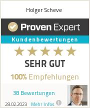 Erfahrungen & Bewertungen zu Holger Scheve
