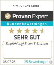Erfahrungen & Bewertungen zu bits & likes GmbH