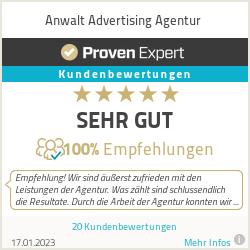 Erfahrungen & Bewertungen zu Anwalt Advertising Agentur