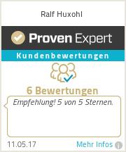 Erfahrungen & Bewertungen zu Ralf Huxohl