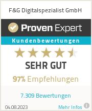 Erfahrungen & Bewertungen zu F&G Digitalspezialist GmbH