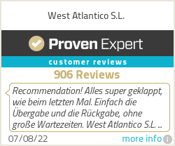 Ratings & reviews for West Atlantico S.L.