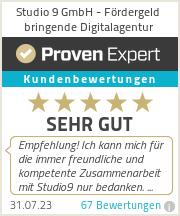 Erfahrungen & Bewertungen zu Studio 9 GmbH - Fördergeld bringende Werbeagentur