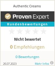 Erfahrungen & Bewertungen zu Authentic Creams