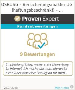 Erfahrungen & Bewertungen zu OSBURG - unabhängiger Makler für Versicherungen und Finanzen
