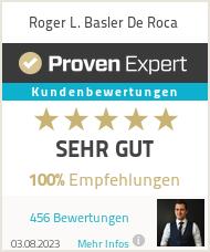 Erfahrungen & Bewertungen zu Roger L. Basler De Roca