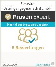 Erfahrungen & Bewertungen zu Zerustra Beteiligungsgesellschaft mbH