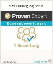 Erfahrungen & Bewertungen zu Max Entsorgung Berlin