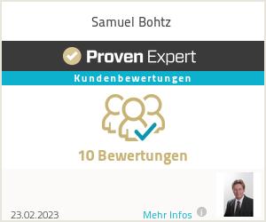 Erfahrungen & Bewertungen zu Samuel Bohtz