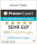 Erfahrungen & Bewertungen zu Jasmin Thiele