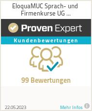 Erfahrungen & Bewertungen zu EloquaMUC Sprach- und Firmenkurse UG (haftungsbeschränkt)