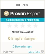 Erfahrungen & Bewertungen zu HB Dekor
