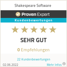 Erfahrungen & Bewertungen zu Shakespeare Software