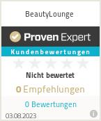Erfahrungen & Bewertungen zu BeautyLounge