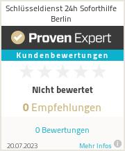 Erfahrungen & Bewertungen zu Schlüsseldienst 24h Soforthilfe Berlin