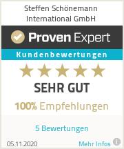 Erfahrungen & Bewertungen zu Steffen Schönemann Int. GmbH