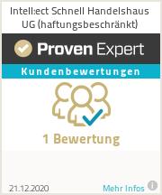 Erfahrungen & Bewertungen zu Intell:ect Schnell Handelshaus UG (haftungsbeschränkt)