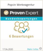 Erfahrungen & Bewertungen zu Popcin Werbeagentur