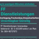 FF Dienstleistungen Innenausbau und Malerarbeiten