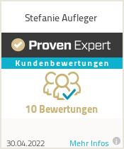 Erfahrungen & Bewertungen zu Stefanie Aufleger
