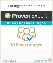 Erfahrungen & Bewertungen zu K+K Ingenieurbau GmbH