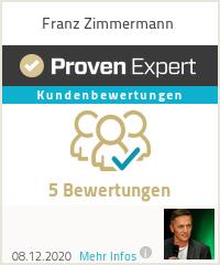 Erfahrungen & Bewertungen zu Franz Zimmermann