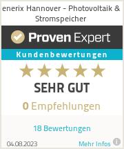 Erfahrungen & Bewertungen zu enerix Hannover - Photovoltaik & Stromspeicher