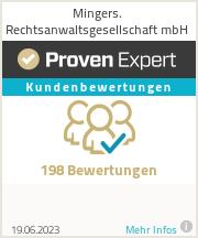 Erfahrungen & Bewertungen zu Mingers. Rechtsanwaltsgesellschaft mbH