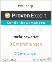 Erfahrungen & Bewertungen zu HBG-Shop