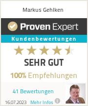 Erfahrungen & Bewertungen zu Markus Gehlken