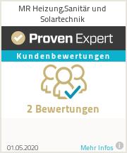 Erfahrungen & Bewertungen zu MR Heizung,Sanitär und Solartechnik