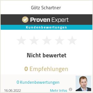 Erfahrungen & Bewertungen zu Götz Schartner