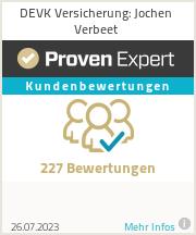 Erfahrungen & Bewertungen zu DEVK Versicherung: Jochen Verbeet