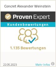 Erfahrungen & Bewertungen zu Concret Alexander Weinstein