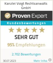 Erfahrungen & Bewertungen zu Kanzlei Voigt Rechtsanwalts GmbH