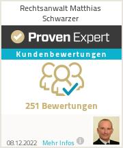 Erfahrungen & Bewertungen zu Rechtsanwalt Matthias Schwarzer