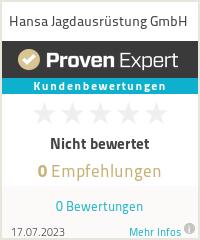 Erfahrungen & Bewertungen zu Hansa Jagdausrüstung GmbH