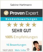 Erfahrungen & Bewertungen zu Sabine Hartmann
