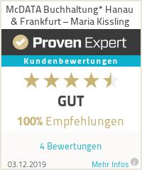 Erfahrungen & Bewertungen zu McDATA Buchhaltung* Hanau & Frankfurt – Maria Kissling